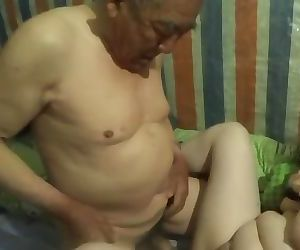 chinese grandpa cum inside..