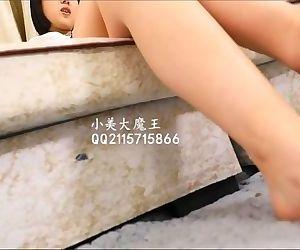 Chinese femdom footjob