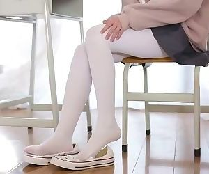 White pantyhose chinese foot..