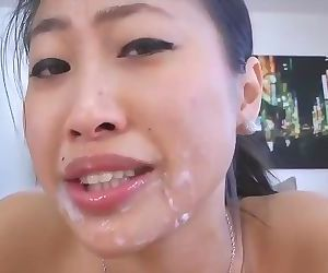 Asian Cutie Gets Her Ass..