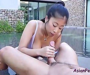 Fucking my bosses asian wife..