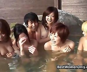 Japanese Group Sex In Public..